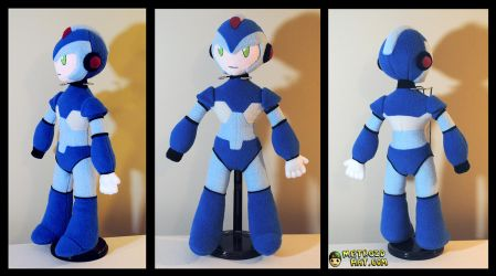Megaman X plushie by Eyes5