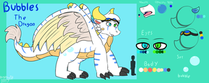 Bubbles The Dragon (Old Reference Sheet) by FanDragonBrigitha