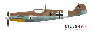 Bf-109 G2 Tropical Black 6 v32 by BRAVO464