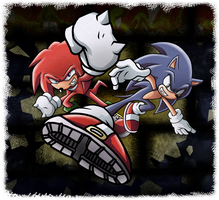 Sonic and Knuckles by Raito-Sarudoi