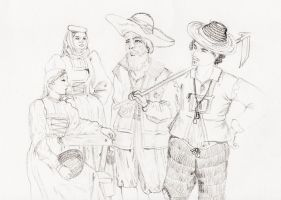 Peasants of Zurich early 18th by Pencilivy