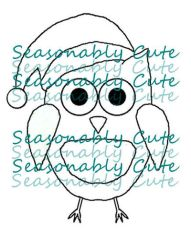 Digi Stamp ~ Christmas Owl by SeasonablyCute
