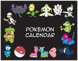 Pokemon Calendar Characters by BrittanysDesigns