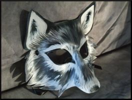Grey Leather Wolf Mask by Jedi-With-Wings