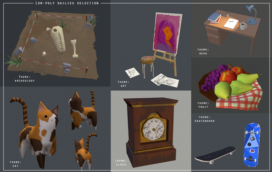 Low Poly dailies selection by Nat-the-witch