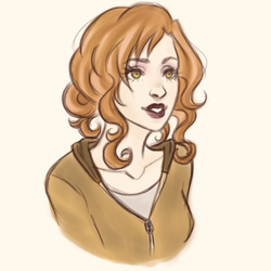 warmup sketch - Edythe Cullen by harleing