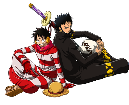 Luffy and Law by Narusailor