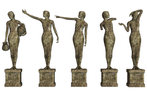 Statues 01 PNG Stock by Roy3D