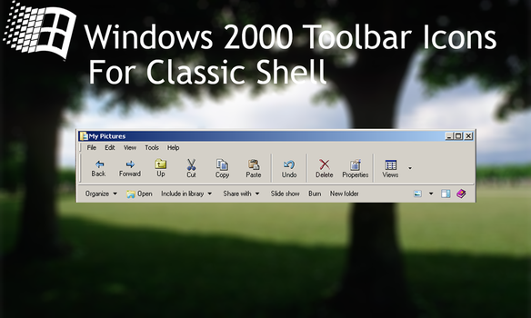Windows 2000 Toolbar icons for Classic Shell by CheezeyGaming