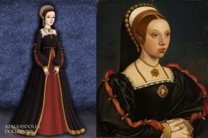 Catherine Howard in Black and Red by LadyAquanine73551