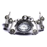Steampunk Watch Silver by CatherinetteRings