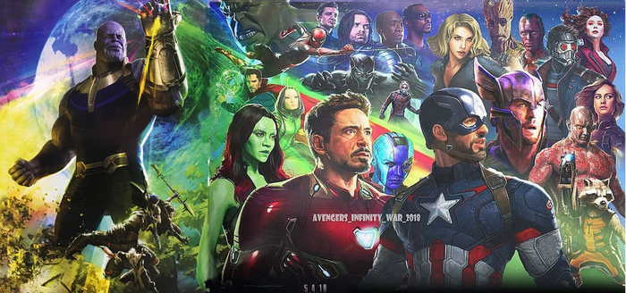 Avengers: Infinity War - sdcc Poster (Banner) by davidsobo