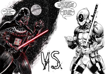 DarthVader Versus Deadpool lettered by RNABrandEnt