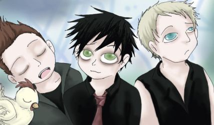 GREEN DAY mgzne photoshoot by Chocoreaper