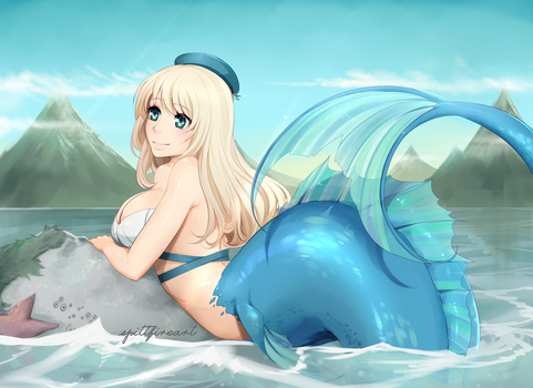 Mermaid Atago by spittfireart