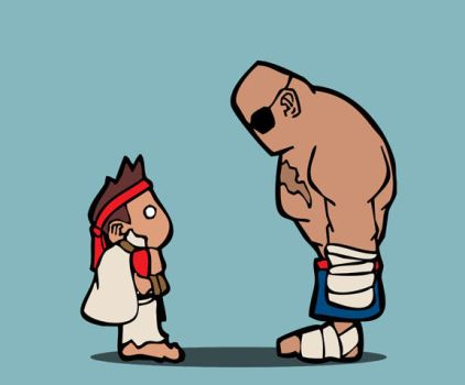 ryu and sagat by cheesyniblets