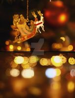 Rudolph the red-nosed reindeer by 0anna-muntean