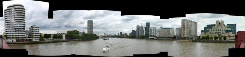 Downstream from Vauxhall Bridge by coshipi
