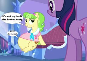 It's not Ms. Peachbottom's fault by VoreEditer