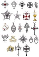 Gothic Jewellery rendered by dashinvaine