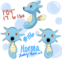 New Project Pokedex: #116 - Horsea