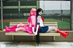 Sailor Scout Marceline and Sailor Scout Bubblegum by EmilyScissorhands
