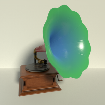 Phonograph in Red, Green, and Blue by kbmxpxfan