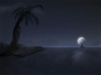 Sea Night by recluze