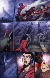 Night Wolf Comic Book Issue #1 Page #3 Color by RAM-Horn