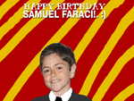 Happy Birthday Samuel Faraci! by Nolan2001