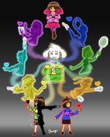 Glitchtale Souls by breezydreamer01