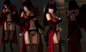 Nyotengu Red Mantle by funnybunny666