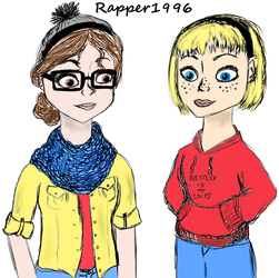 Keira and Maddy by Rapper1996