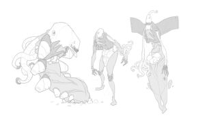 Creature Sketches by BrotherBaston