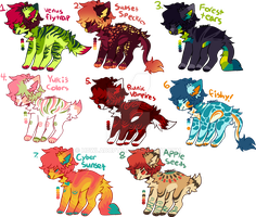 -OPEN ONE LEFT- Big Sheet Of Paypal Canines by H0wladopts