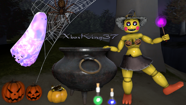 Halloween 2017 ft. Toy Chica (SFW) by Xboxking37