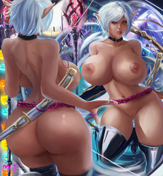 Commission - FFXIV | Colette (Nude Ver.) by MiraiHikariArt