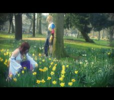 Collecting Flowers by BluePandaCosplay