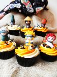 Naruto cupcakes by I-am-Ginger-Pops