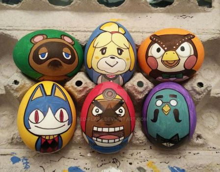 Animal Crossing Eggs by Red-Flare