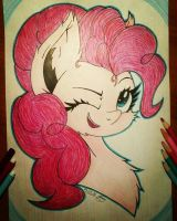 Pinkie Pie. Portrait  by Kindny-Chan
