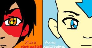 Zuko and Aang (Year 2010) by HarkinDeximire