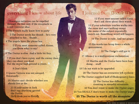 What I learned from Doctor Who by foreverfrodo
