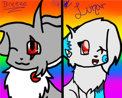 Breeze and Lunar Icon -collabish- by RukiaTheWolfie