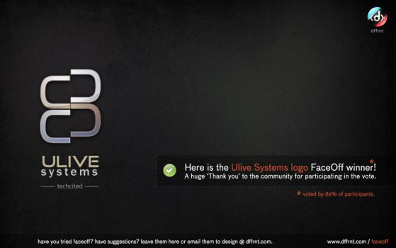 Logo: Ulive Systems - FaceOff by vijay-dffrnt