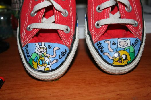 Adventure Time Shoes 1 by Indigo-Maverick