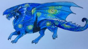 Starry Night Dragon by Hbruton