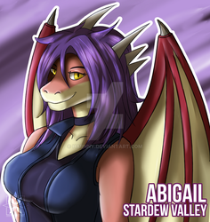 Fan Art ~ Abigail ~ Stardew Valley Anthro Mod by Harnny