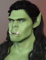 Fantastical Features Genesis 3 Male: Orc by SickleYield