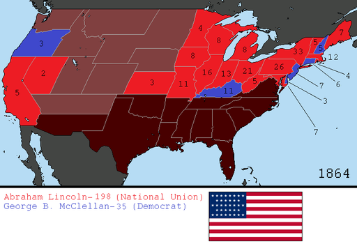 Alternate 1864 US Presidential Election by tylero79